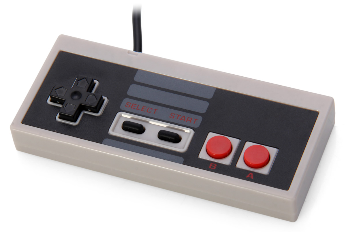 7 Pin Retro Style Wired Game Controller for Nintendo System