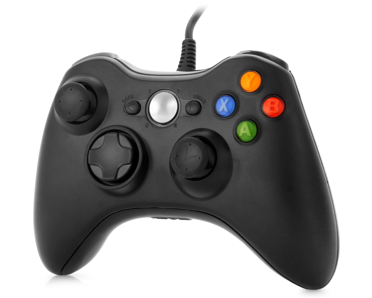USB 2.0 Wired Gamepad Integrated Headset Port for X-Box 360 / PC / Windows XP / 7
