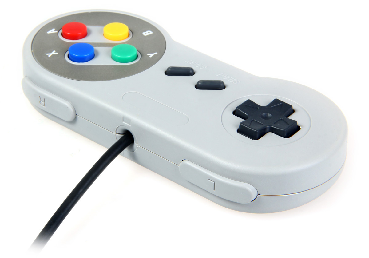 Clásico Gamepad con Interfaz de Ordenador Central para SNES