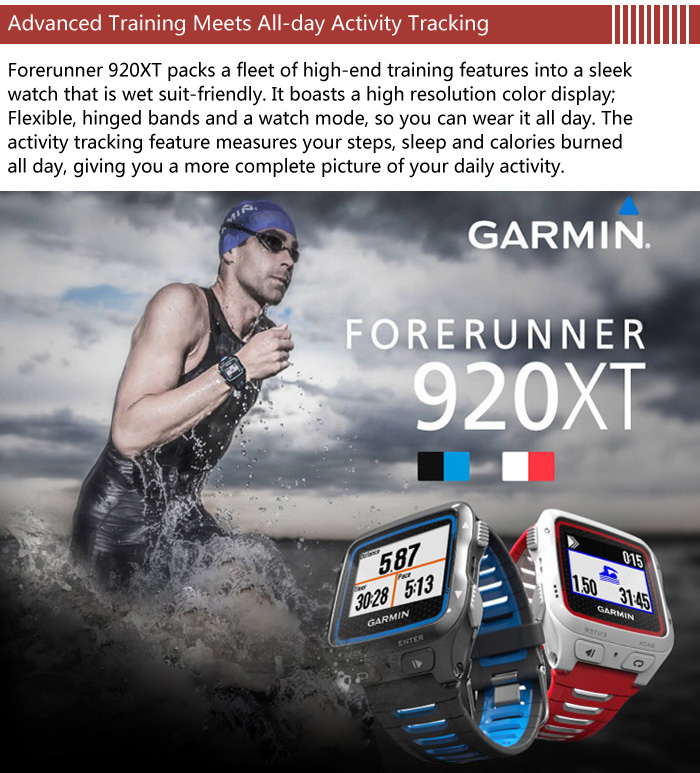 GARMIN Forerunner 920XT GPS Smart Watch with Heart Rate Monitor Sports Tracking