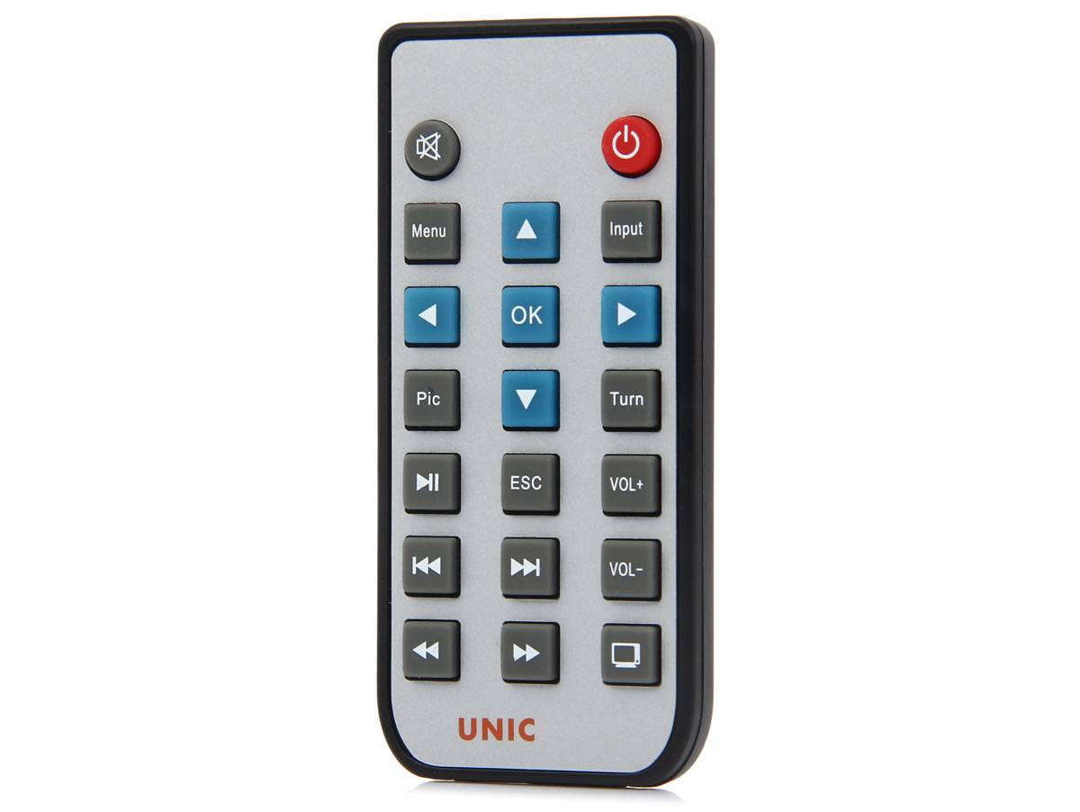Unic UC50 DLP Projector Visible 1000 LM 854 x 480 Pixels with AV / USB / HDMI / TF Card / Audio Interface Support 1080P