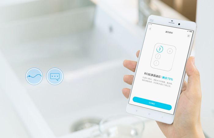 Original Xiaomi Mi Water Purifier Preposition Activated Carbon Filter Smartphone Remote Control Home Appliance