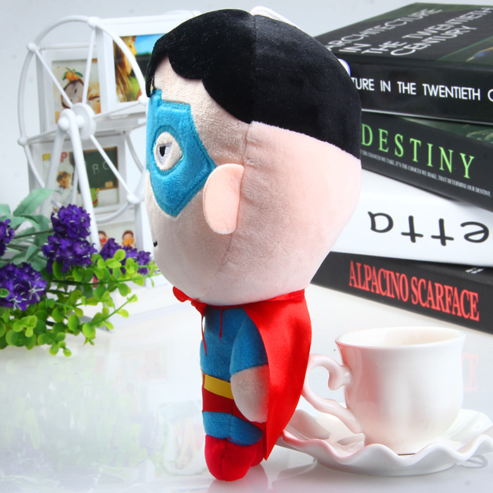 19cm Lovely Superman Plush Doll Stuffed Toy Pendant with Sucker