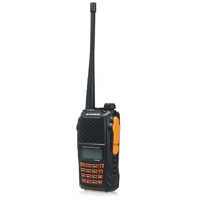 BaoFeng UV-6R Commercial LCD Walkie Talkie with PTT-ID Identification Function
