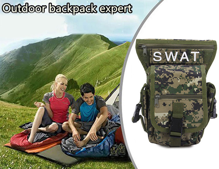 Outdoor Military Leg Pack Waist Bag Molle Pouch Camping Hiking Camera Travel