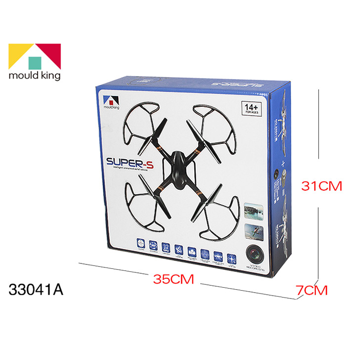 Mould King UFO 33041A RC 2.4G 4CH 6 Axis Gyro Hover Quadcopter with Propeller Protector Light