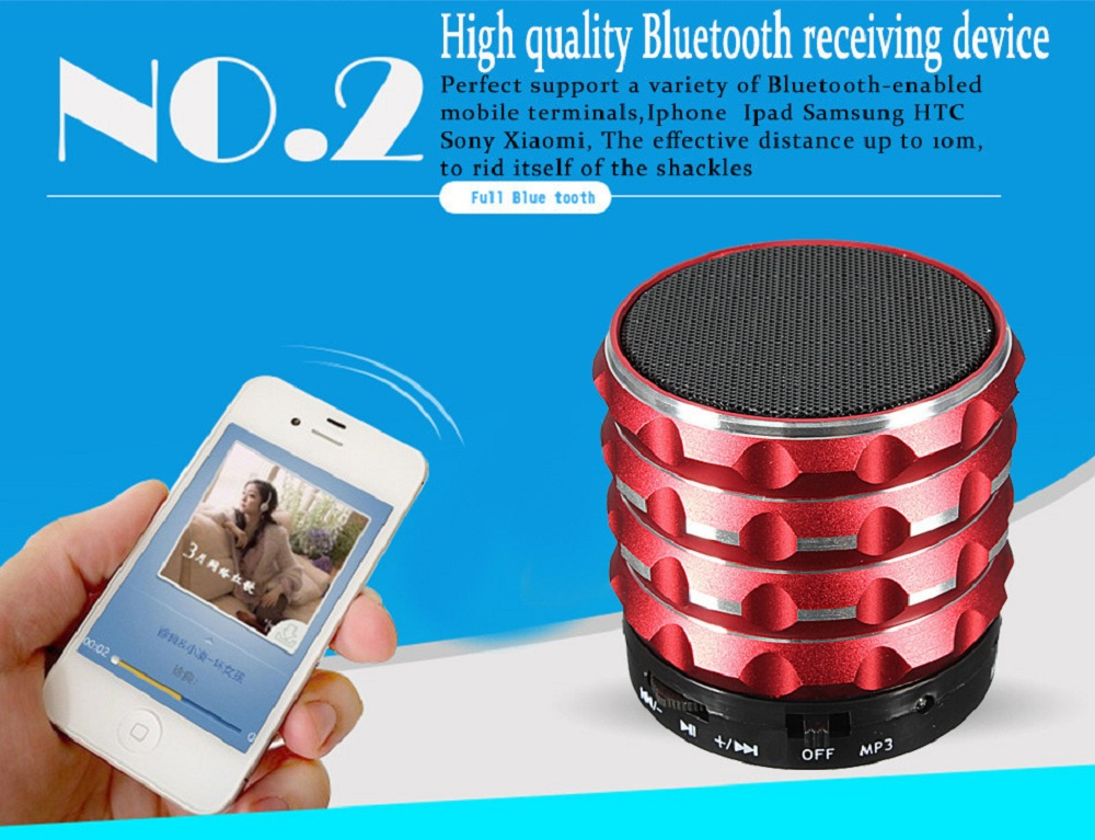 K2 Portable Wireless Bluetooth 2.1 Super BASS Speaker