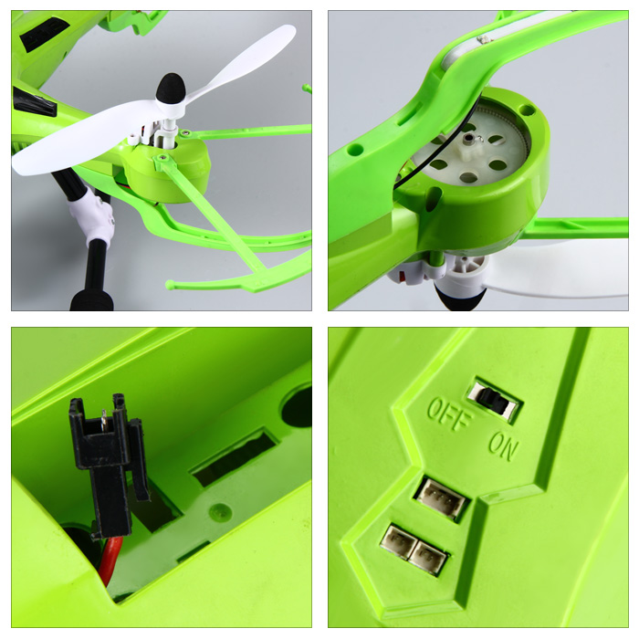 JJRC H26 2.4G 4CH 6 Axis Gyro RC Quadcopter with LED Light