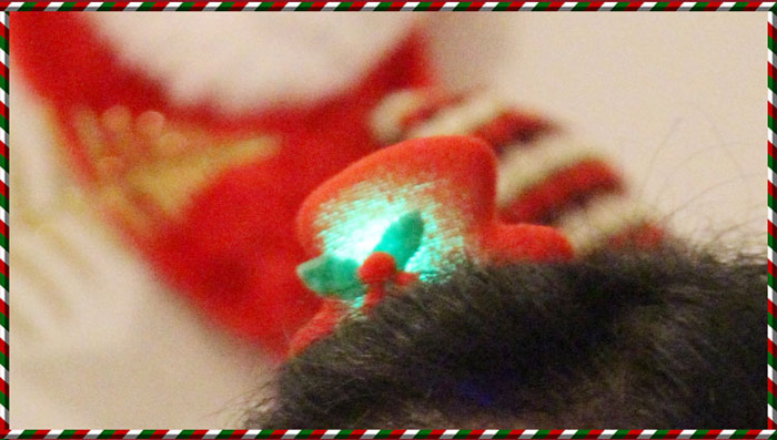 LED Flashy 3D Santa Claus Snowman Hat Style Hairpin for Christmas