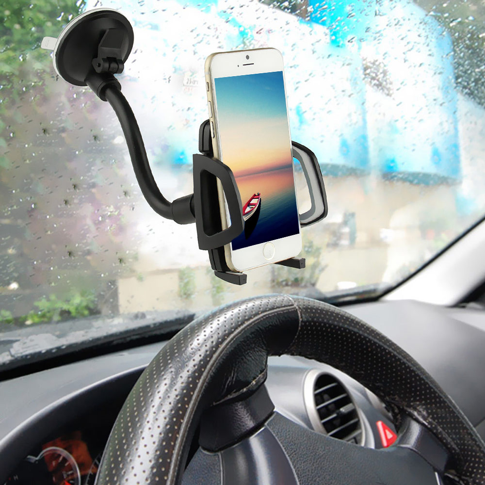 Cell Phone Car Windshield Mount Holder Universal Mount Cradle Kit