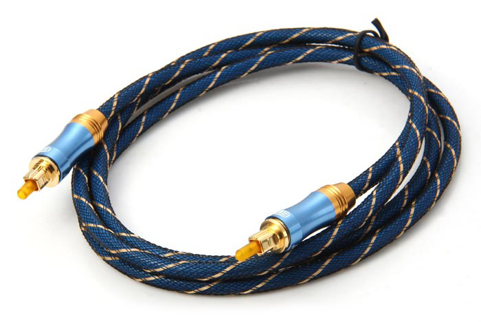 EITK LSYJ-A015 1.5m Digital Round Optical Fiber Male to Male Audio Cable with Gold-plated Interface
