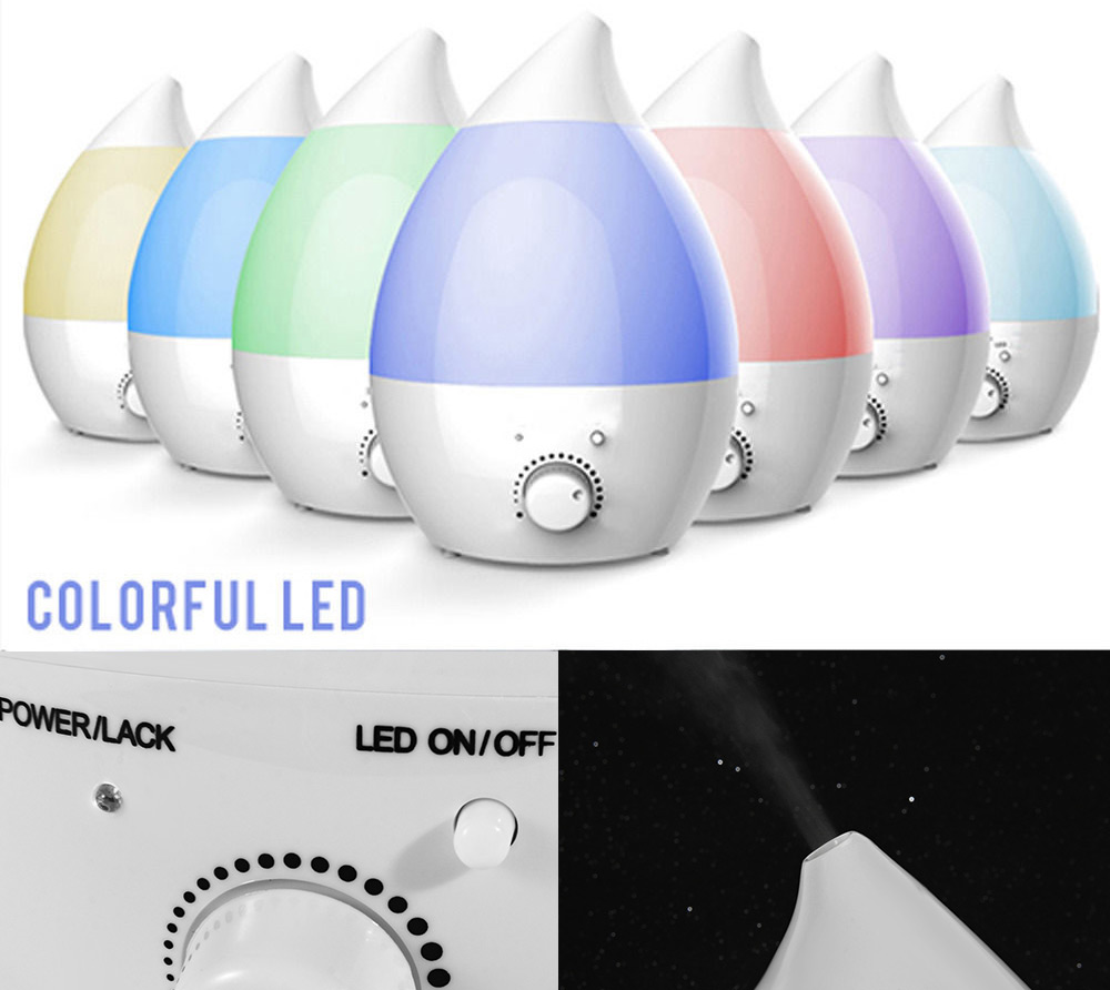 GYJ - 110 Home Air Humidifier Ultrasonic Aroma Diffuser Atomizer 7 Colors LED Lights