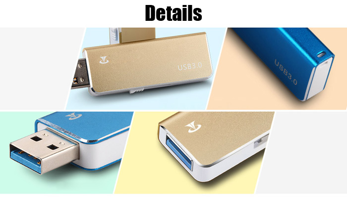 Original TECLAST Jisu Series USB 3.0 Flash Drive Frosted Metal Body Push-pull Type A+ Chip Data Valve