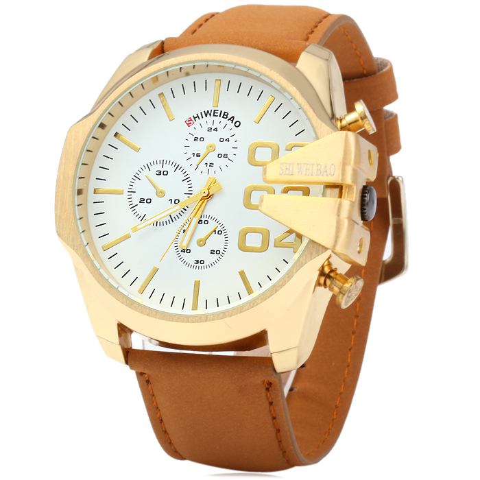 Shiweibao A1107 Nubuck Band Male Quartz Watch
