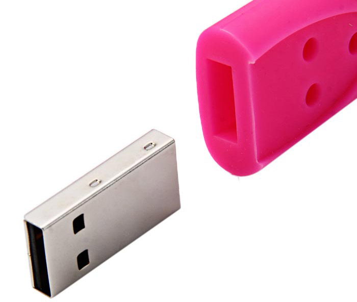 64GB USB 2.0 Stick Silicone Bracelet Type 3 Button for Home / Office / Hotel