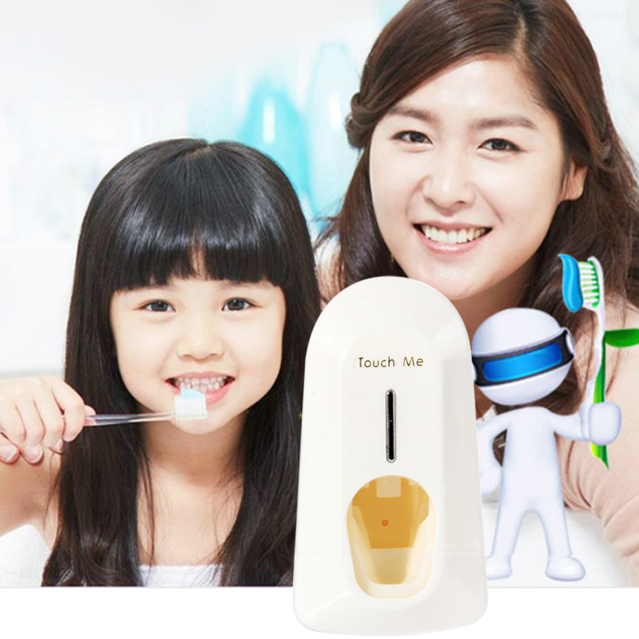 Automatic Toothpaste Dispenser Squeezer Toothbrush Holder Set for Household