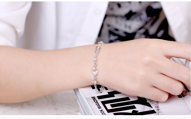 Fashion Fresh Butterflies Bracelet Silver Plated Jewelry Accessories for Women