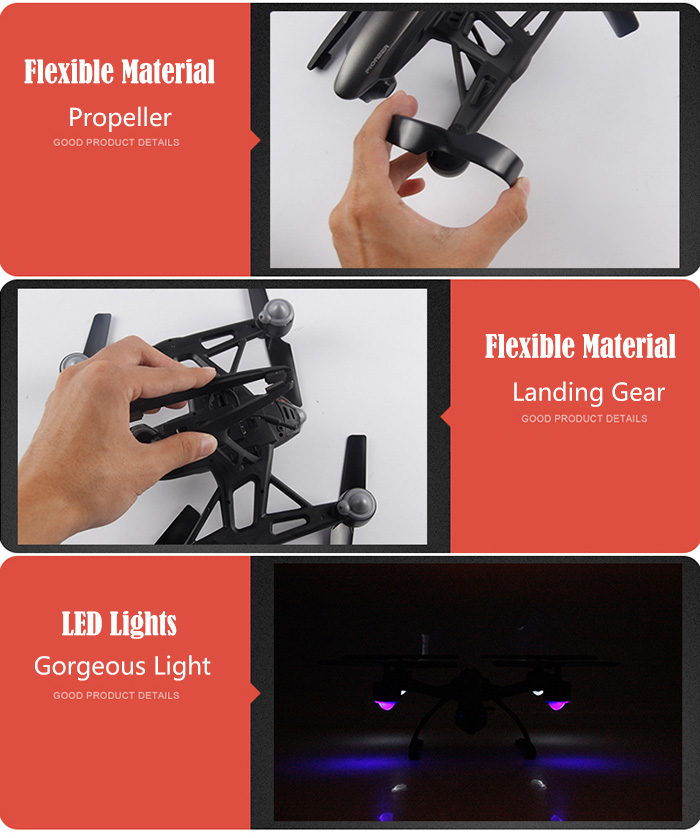 JXD 509G RC Quadcopter 5.8G Real-time FPV 0.92MP Headless Mode with Light