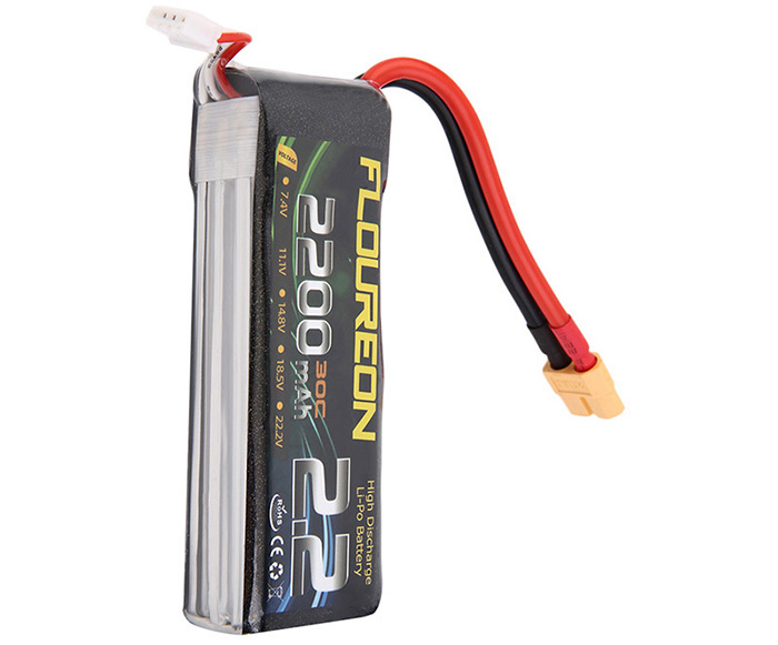 FLOUREON XT60 Plug 11.1V 2200mAh 30C Battery RC Helicopter Airplane Vehicle Model Spare Part