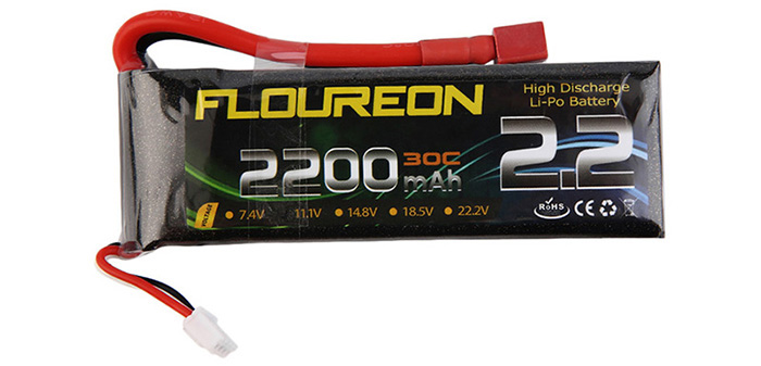 FLOUREON T Plug 11.1V 2200mAh 30C Battery RC Helicopter Airplane Vehicle Model Spare Part