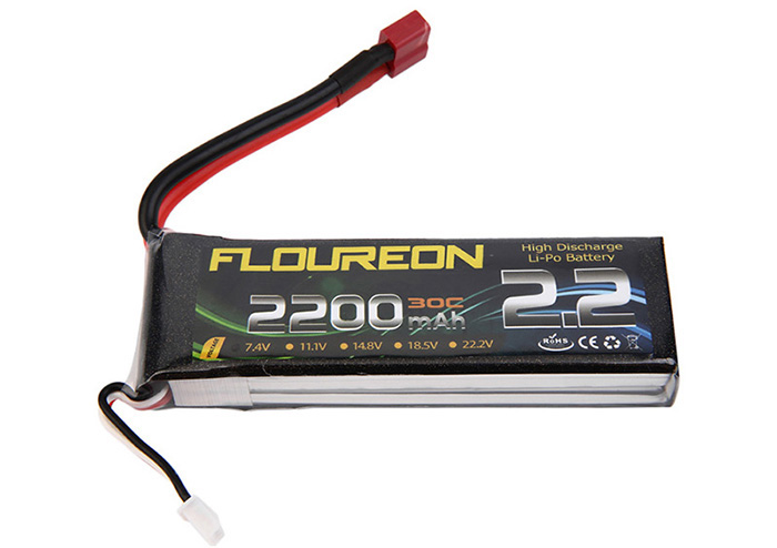 FLOUREON T Plug 7.4V 2200mAh 30C Battery RC Helicopter Airplane Vehicle Model Spare Part