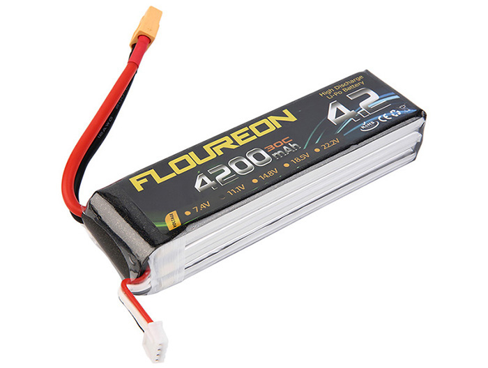 FLOUREON XT60 Plug 11.1V 4200mAh 30C Battery RC Helicopter Airplane Vehicle Model Spare Part