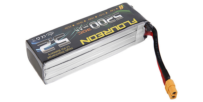 FLOUREON XT60 Plug 14.8V 5200mAh 30C Battery RC Helicopter Airplane Vehicle Model Spare Part