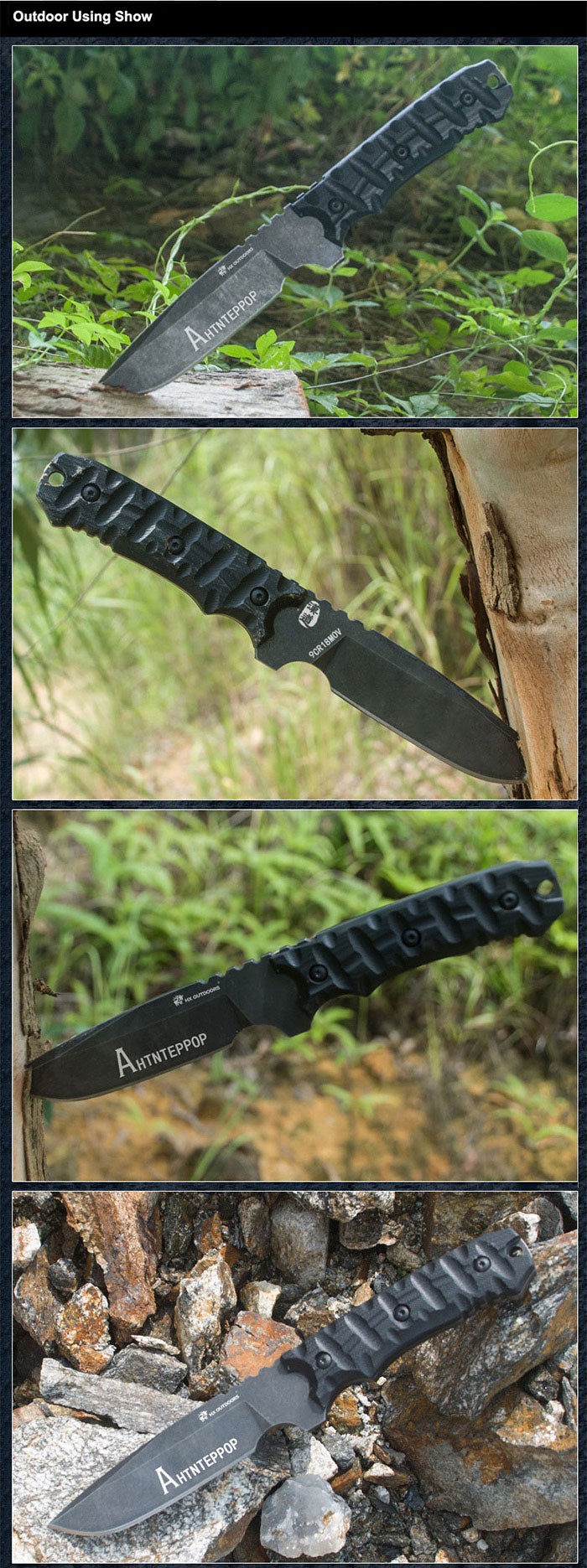 HX OUTDOORS D-134 Fixed Blade Knife 9Cr18Move Stainless Steel