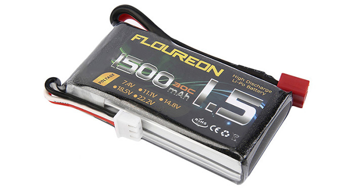 FLOUREON T Plug 7.4V 1500mAh 30C Battery RC Helicopter Airplane Vehicle Model Spare Part
