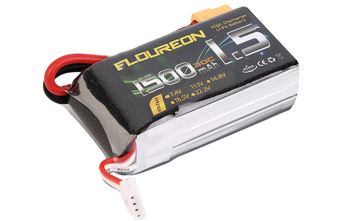 FLOUREON XT60 Plug 11.1V 1500mAh 30C Battery RC Helicopter Airplane Vehicle Model Spare Part