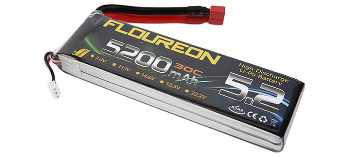 FLOUREON T Plug 7.4V 5200mAh 30C Battery RC Helicopter Airplane Vehicle Model Spare Part