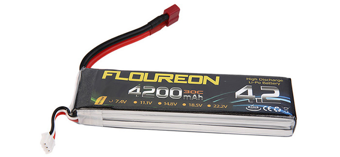 FLOUREON T Plug 7.4V 4200mAh 30C Battery RC Helicopter Airplane Vehicle Model Spare Part