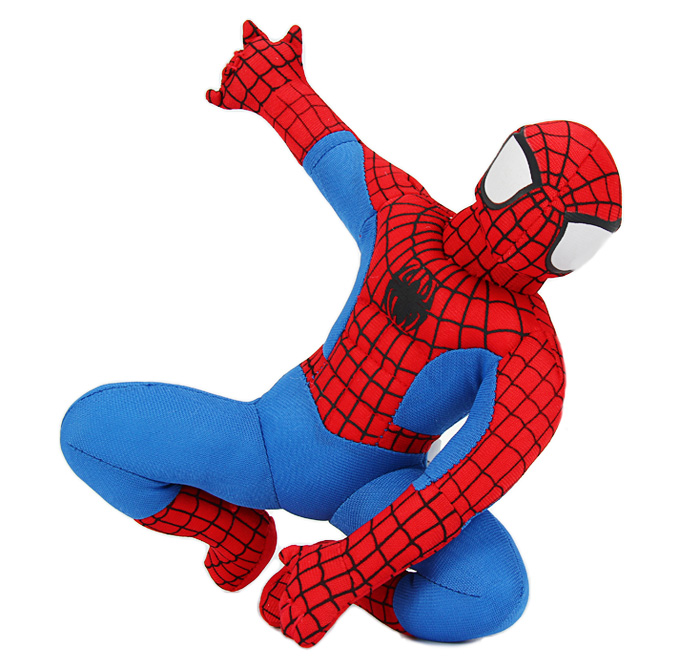 Spiderman Characteristic Plush Toy Decoration Gift with Suction Cup