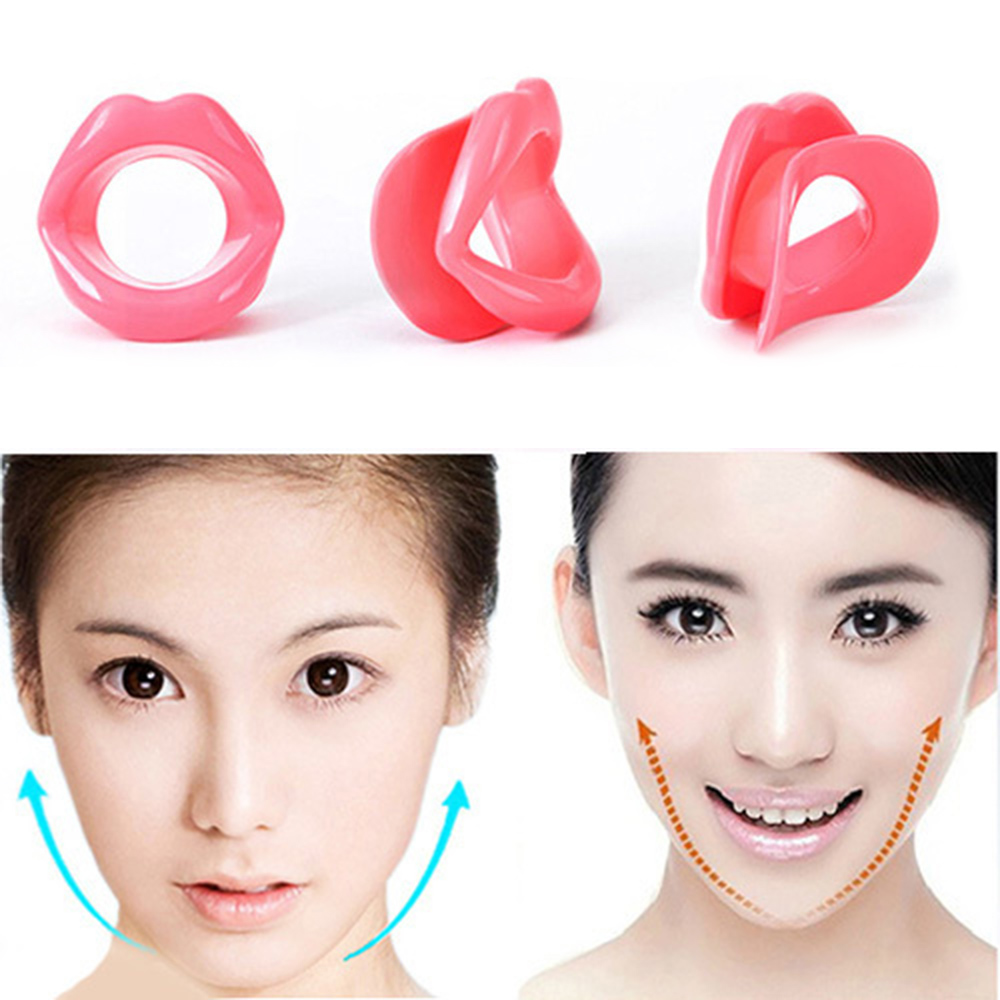 Silicone Rubber Face Slimmer Face Exerciser Massage Muscle