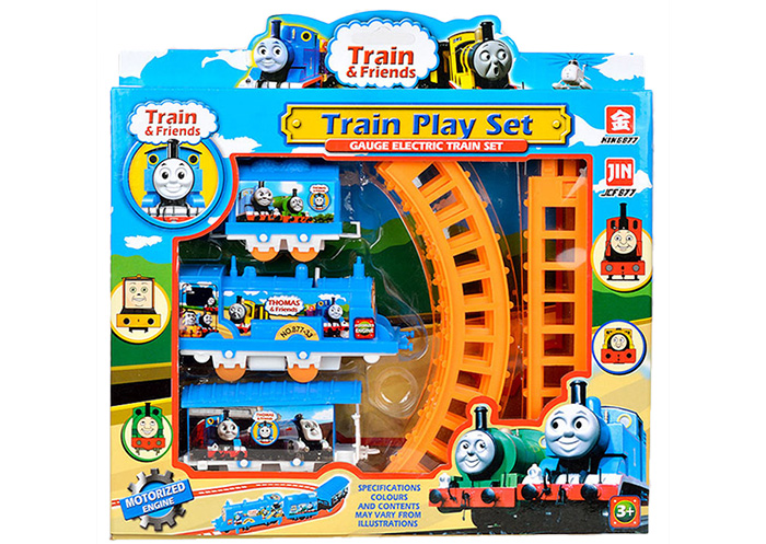 Electric Thomas Little Train Toy Simulation Toy Set with Train Track Indoor Toy