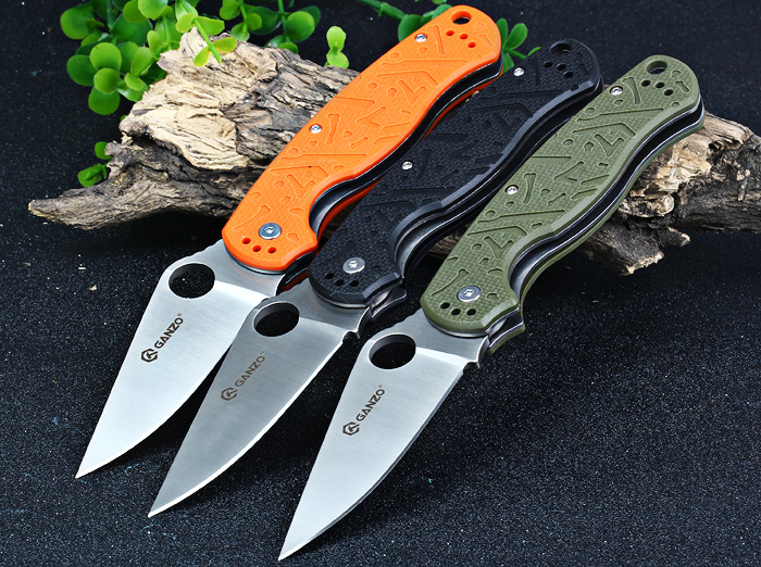 Ganzo G730-OR Folding Knife with Liner Lock G10 Blade