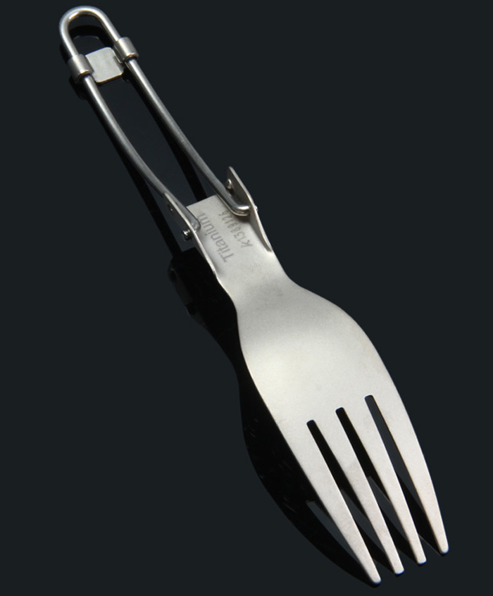 Keith KT303 Titanium Folding Table Fork with Sand Blasting Process