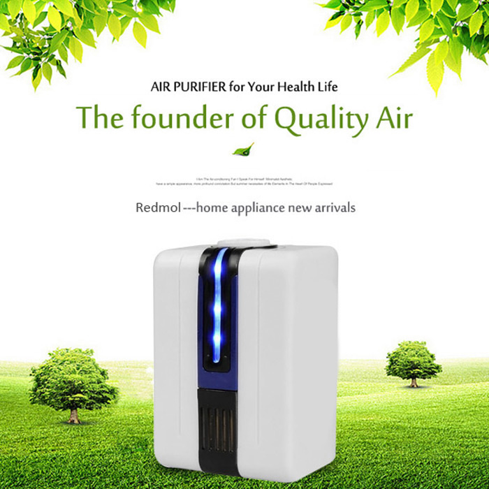 ANJ HC-03 Negative Ion Anion Mini Air Purifier Ozonator Purify Cleaner with Adaptor 110-240V
