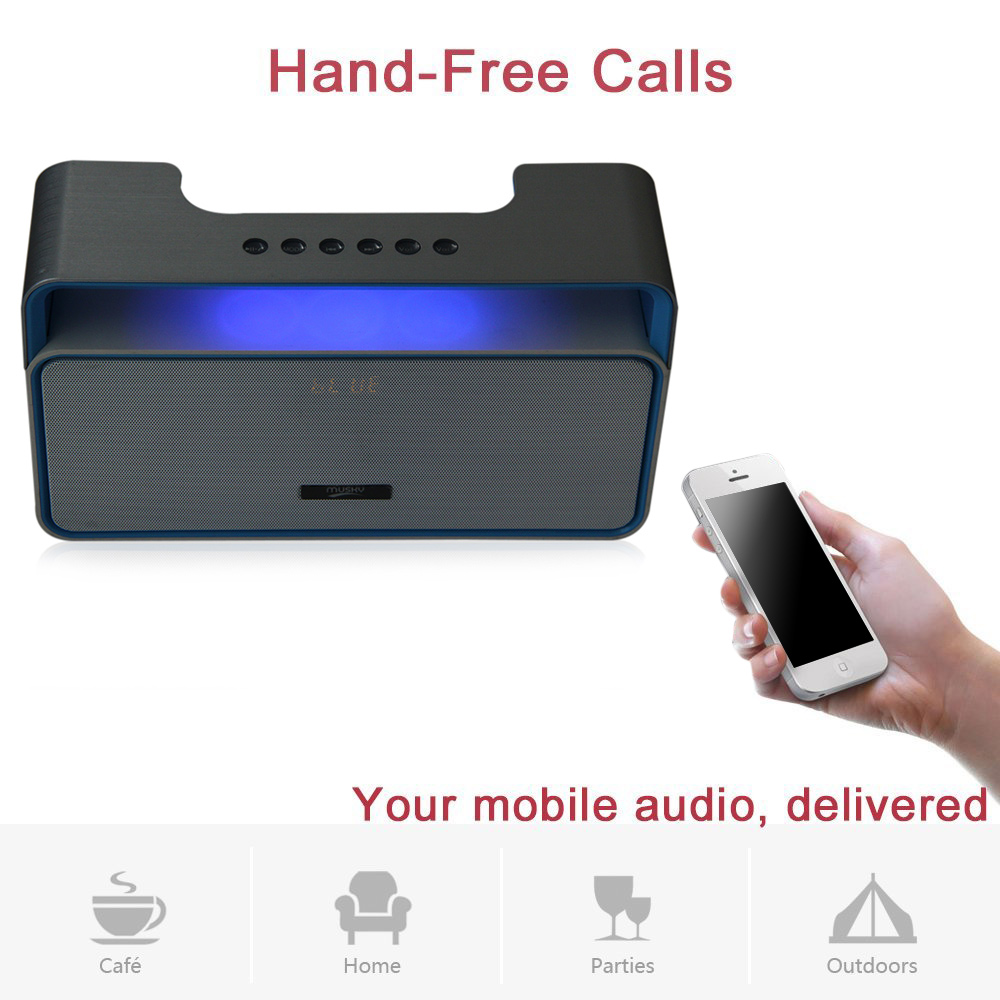 MUSKY DY25 Stereo HIFI V3.0+EDR Bluetooth Speaker with MP3 FM Radio AUX Hands-free Function