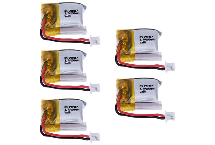 5 x 3.7V 100MAH Battery Set Spare Part for Cheerson CX - 10 V646 V272 Quadcopter VA18