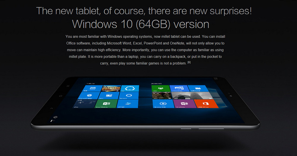 XiaoMi Mi Pad 2 Versione Windows 10