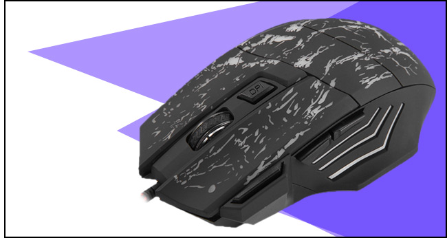 A874 3200DPI 7 Buttons LED USB Wired Gaming Mouse Compatible with Computer and Laptop