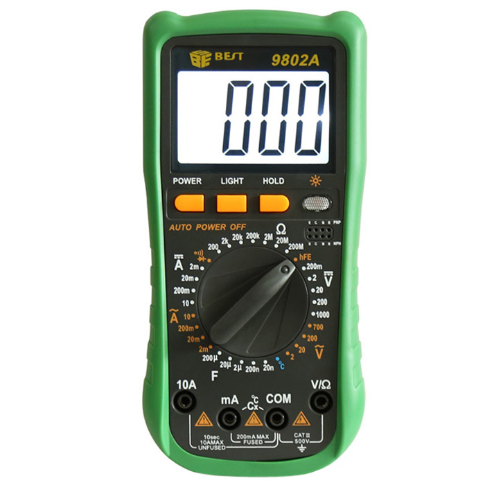 BEST BST-9802A LCD Digital Multimeter Overload Protection Test Device with Backlit