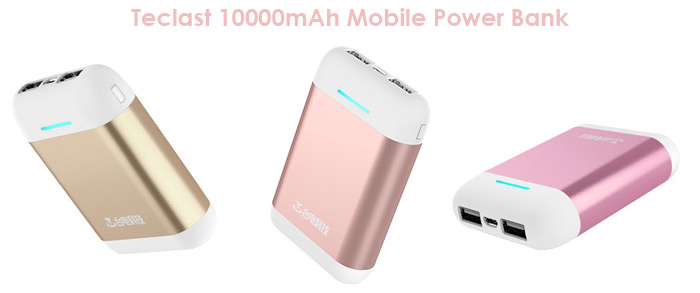 Origianl Teclast T100CA 10000mAh Mobile Power Bank Battery Charger with Dual USB Outputs