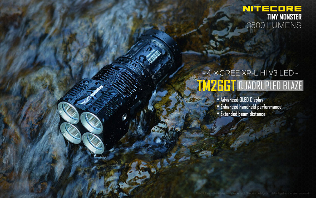 Nitecore TM26GT Cree XP L HI V3 3500LM 18650 CR123A LED Flashlight