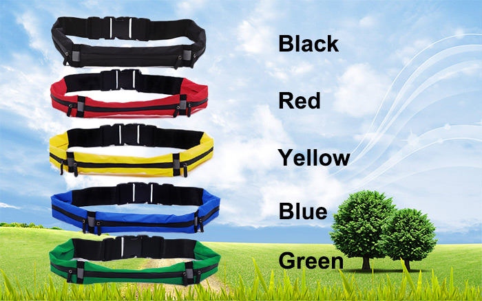 NUCKILY Unisex Small Elastic Personal Waist Bag for Running