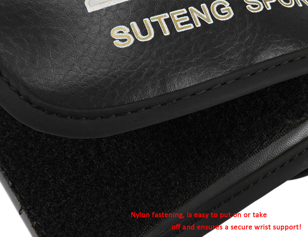 SUTEN 1 Pair PU Boxing Kickboxing Training Fighting Sandbag Gloves for Fighter
