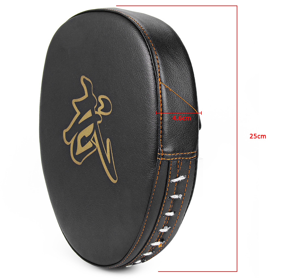 SUTEN PU Leather Punching Kicking Palm Pad Target MMA Boxing Mitt Focus Punch Pad (One Piece)