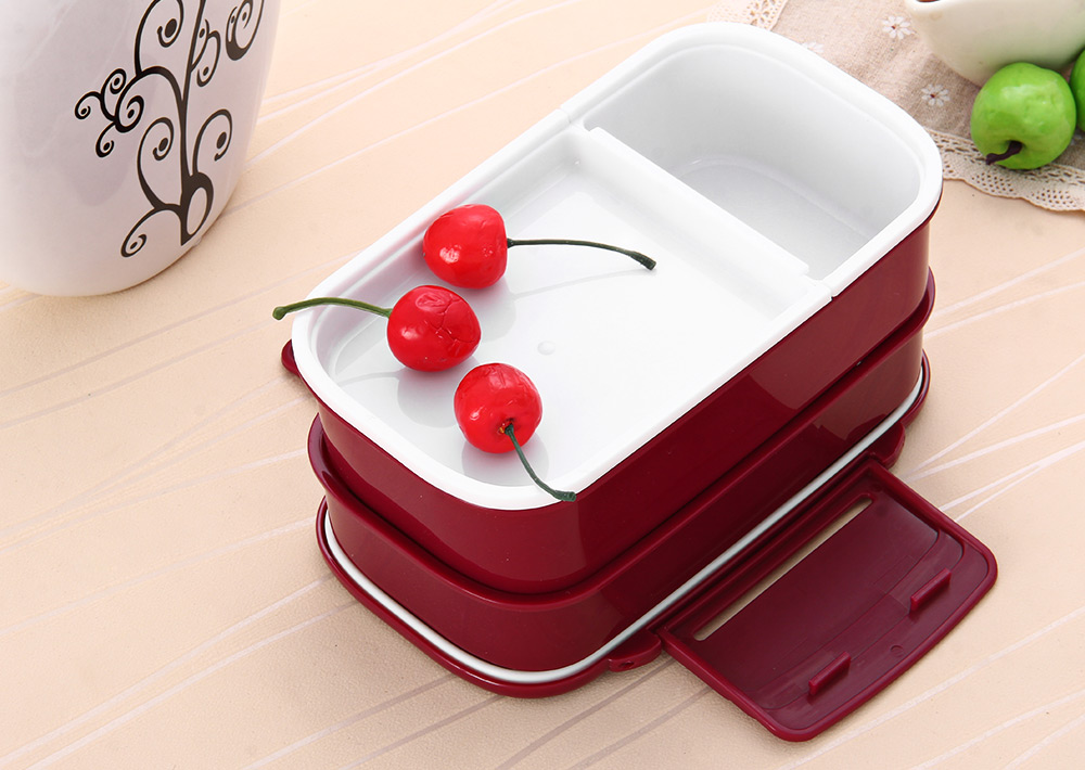 Japan Style Double Tier Bento Lunch Box Kitchen Accessories Tableware Microwave