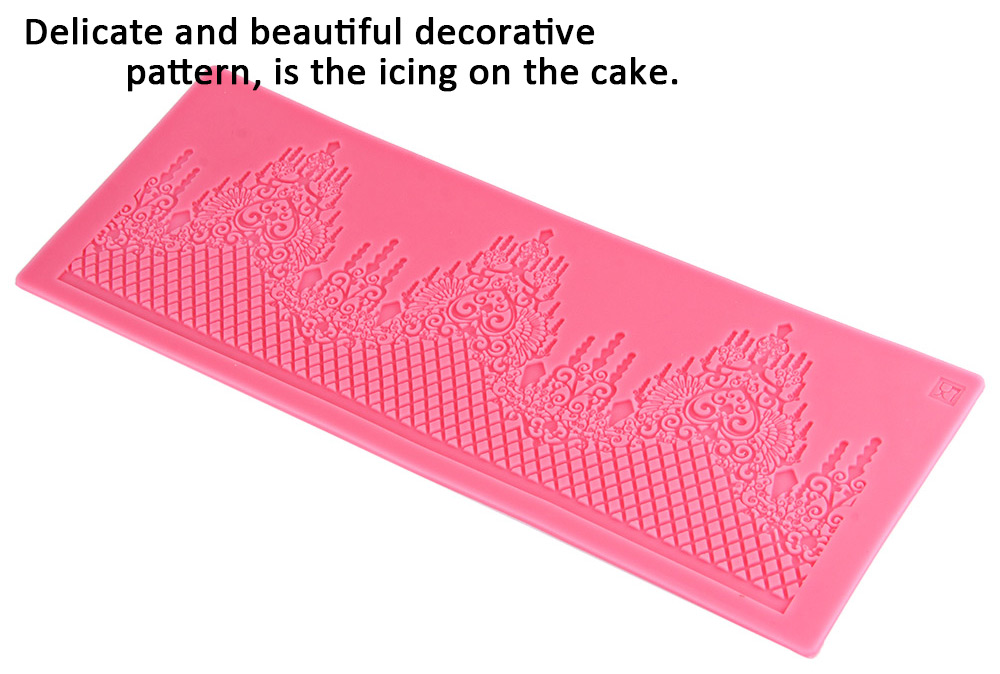 Silicone Lace Weeding Cake Mat Mold Fondant Chocolate Cookie Decoration